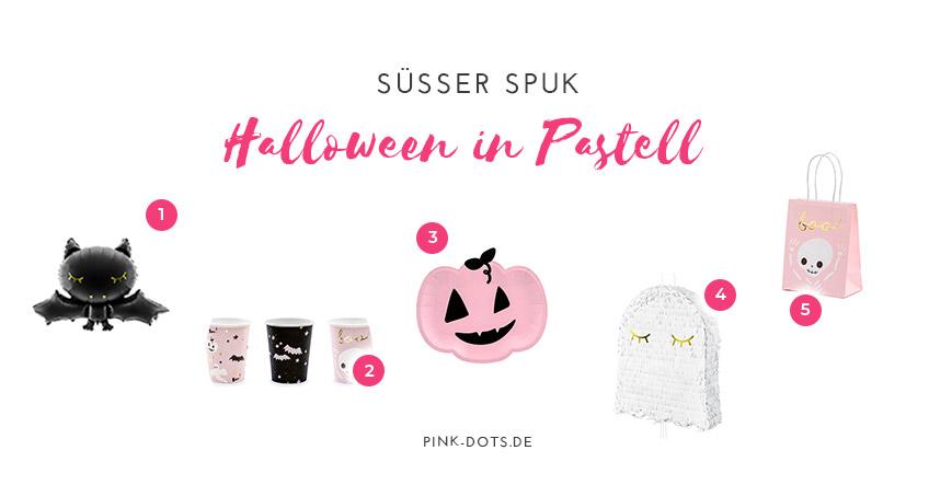 Shop den Blogger-Look zu Halloween mit süßer Deko in Pastell