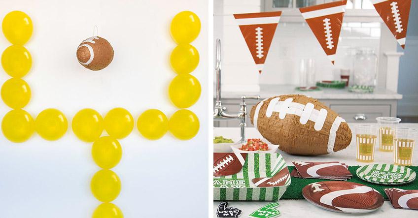Werde kreativ und gestalte tolle Super Bowl Deko