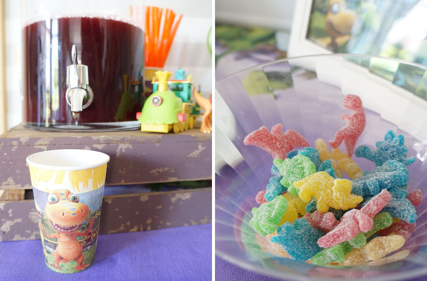 Trolli Dinosaurier Gummibären für den Kindergeburtstags Sweet Table