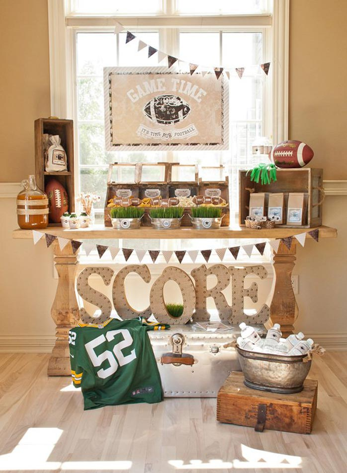 Ein Sweet Table im rustikalen Look zaubert Eleganz auf eure Football Party  (c) andersruff.com