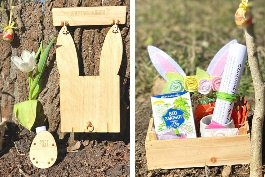 Stell eine magische Hasenklappe auf, damit der Osterhase seine Überraschungen bringen kann