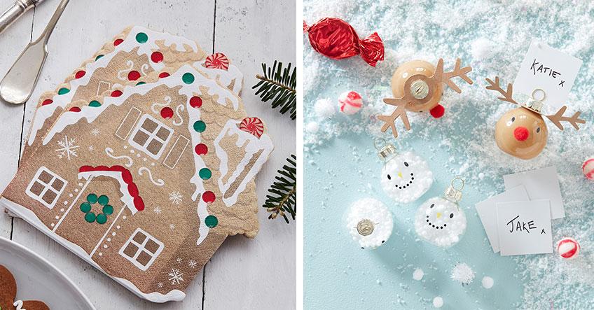 Nostalgische und doch zeitlos - Pfefferkuchenhaus und Schneemann zu Weihnachten