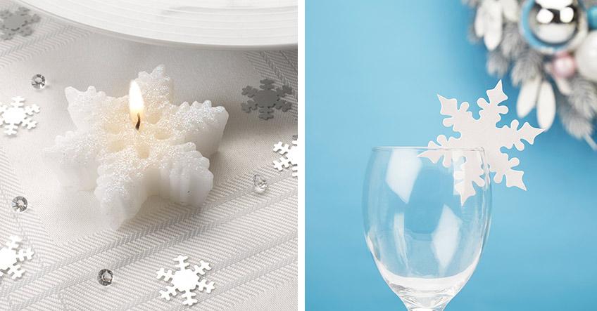 Schnee & Eis zu Weihnachten, aber ganz kuschelig - mit Eiskristall-Deko