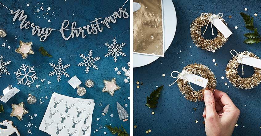 Elegante Weihnachtsdeko im Metallic-Look - welche Farbe gefällt dir?