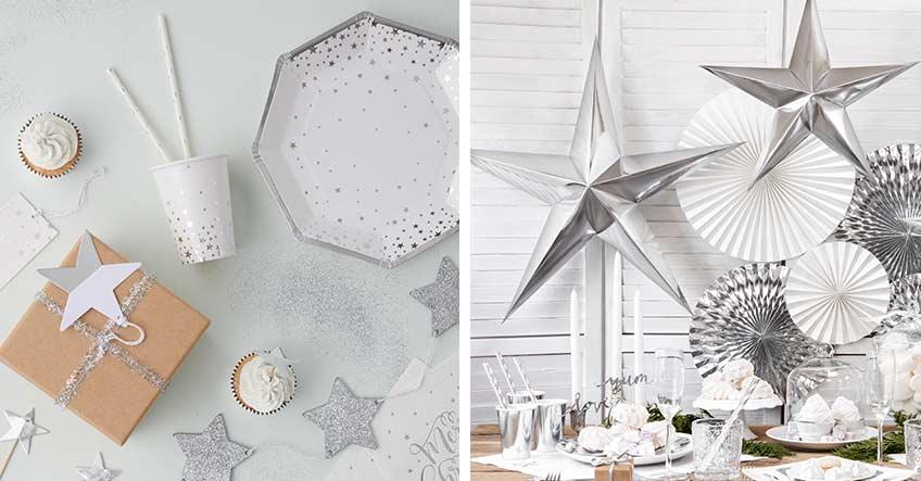 Weihnachtsdeko - Auch silberne Metallic-Effekte sind elegant