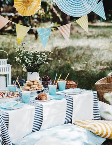 Tolles Sommermotto - ein Picknick mit Freunden und unserer grandiosen Deko