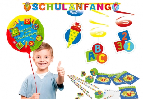 Mit bunten Girlanden, Ballons und Mitgebseln für die Einschulung dekoriert ihr im Handumdrehen eine tolle Schulanfangs-Party