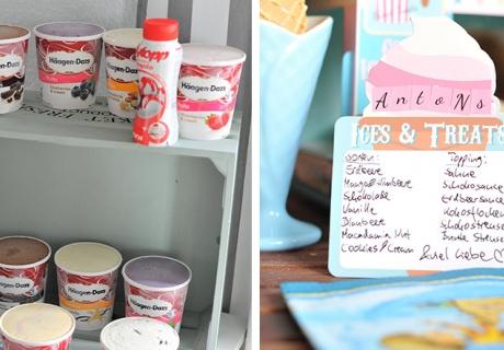Dein Eisstand für zu Hause - du brauchst verschiedene Sorten von Eis und Topping