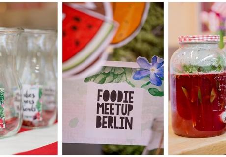 Tolle Getränke und schöne Gefäße auf dem Foodie Meetup Berlin