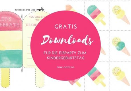 Hol dir unsere coolen Gratis-Downloads für den Kindergeburtstag mit Eiscreme (c) Talking Tables