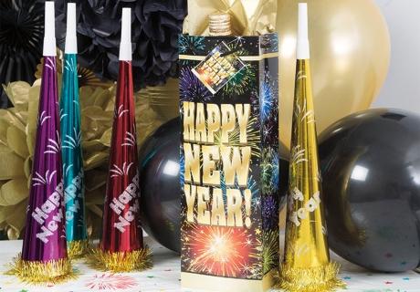 Deko mit Feuerwerk passt natürlich zu Silvester