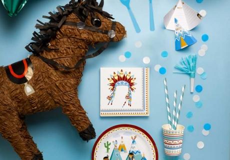 Was wäre ein Indianergeburtstag ohne tolles Motivgeschirr?