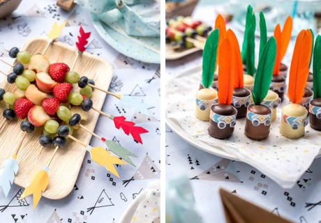 Sorg auch auf dem Geburtstags-Sweet-Table für bunte Indianerdeko