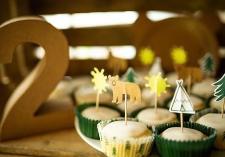 Waldstimmung auf der Jungenparty mit kleinen Cupcake-Picks mit Naturmotiven (c) annalotz.fotografie.jpg