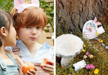 Tierische und verzauberte Mottos für den Kindergeburtstag im Herbst, links (c) MERI MERI
