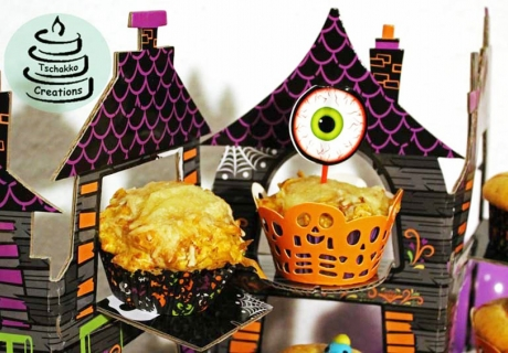 Schaurige Halloween-Leckerei: Rezept für Spukschloss-Kürbis-Muffins