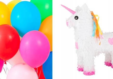 Zum Kinderfasching muss es bunt zugehen - mit Pinata und Luftballons
