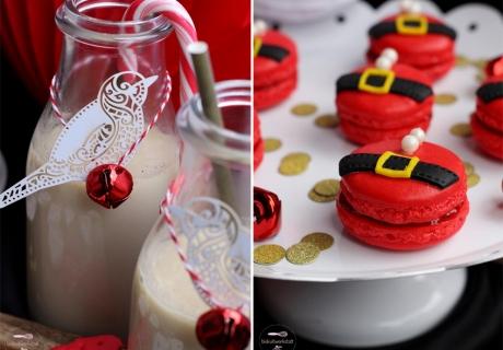 Gemütlichkeitsfaktor 10: mit der leckeren Winter-Mandelmilch und den süßen Nikolaus-Macarons