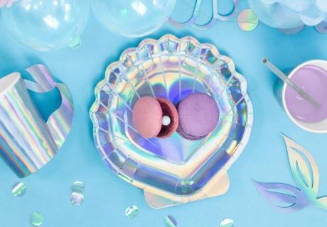 Einfach und schön - Setze zum Meerjungfrauen-Kindergeburtstag Perlen in Macarons ein