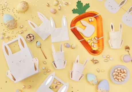 Auf der Suche nach einer besonderen Osterdeko? Wie wärs mit goldigen Hasen und Glitter!