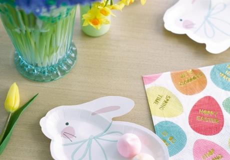 Eine sehr schöne Idee - Osterteller in der Form kleiner Häschen