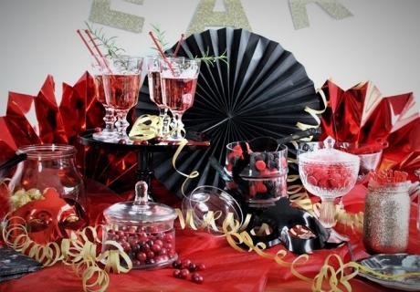 Exklusive Deko für ein pompöses Fest in edlen Farben (c) Mareike Winter - Biskuitwerkstatt