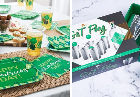 Alles grün - Spiele und Shamrock-Deko zu St. Patrick's Day
