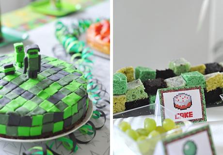 Mit Lebensmittelfarbe und Fondant ist der Geburtstagskuchen für Zocker supereinfach gemacht