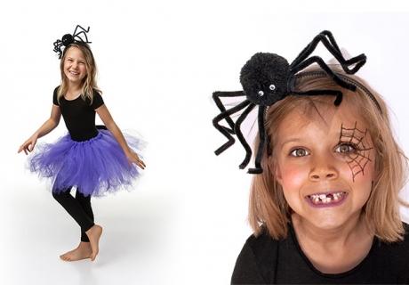 Spinnen-Haarreif und Hexen-Tutu - kleine Hexen dürfen ruhig exzentrisch kostümiert sein