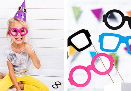 Verkleiden zu Fasching leicht gemacht mit witzigen Photobooth-Brillen